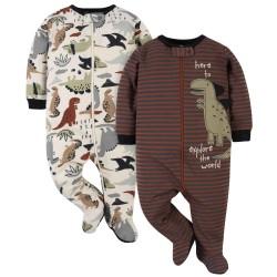Gerber 2-Pack Baby Boys Dino Sleep 'n Plays
