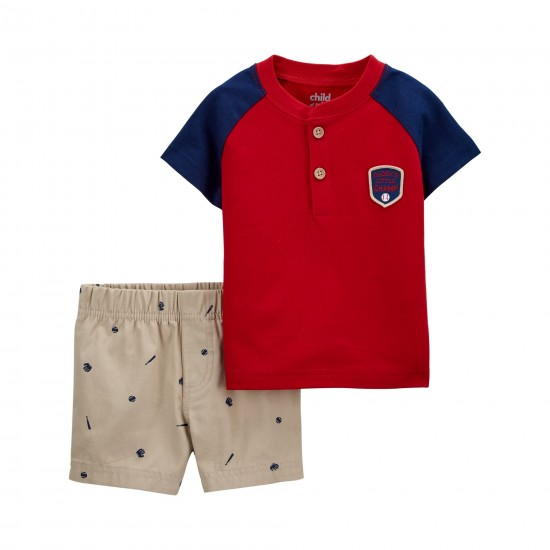 Child of Mine by Carter's Baby Boys Outfit, Baseball (0-24 Months)