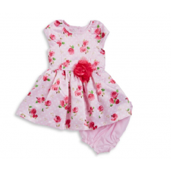 Marmellata Mixed Floral Print Baby Girl  Dress and Bloomers Set - 12-24 months