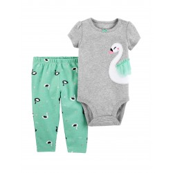 Carter's 2-pc. Swan Bodysuit & Leggings Set - Baby