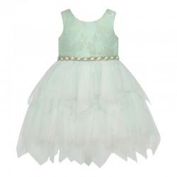 Baby Girls Fairy Skirt Floral Pattern Dress -Mint- AMERICAN PRINCESS