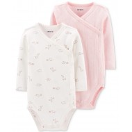 Carter's Baby Girls 2-Pack Side-Snap Printed Bodysuits