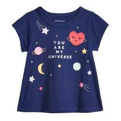 First Impressions Baby Girls Universe-Print Cotton T-Shirt