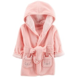 Carter's Baby Girls Hooded Cotton Robe 0-9M - Pink