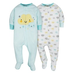 Gerber 2-Pack Neutral Clouds Sleep N' Play