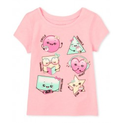 Baby Girls Glitter Shapes Graphic Tee by CP