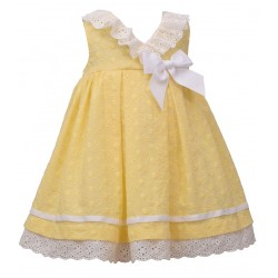 Bonnie Jean Baby Girl Eyelet Crossover Dress