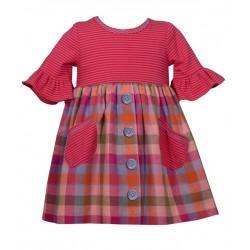 Bonnie Jean Baby Girl  FLANNEL BABYDOLL Dress