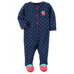 Carter's Cotton Strawberry  Snap-Up Sleep & Play - Baby Girl