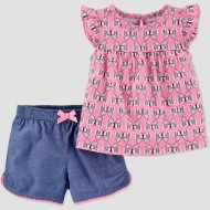 Baby Girls' 2pc Butterfly Top & Bottom Set Just One You made by Carter's