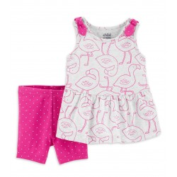 Child of Mine by Carter's Baby Girl Tank Top & Shorts Outfit, 2pc Set