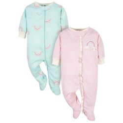 Gerber Organic 2-Pack Baby Girls Rainbow Sleep 'N Plays