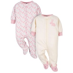Gerber Organic 2-Pack Baby Girls Bunny Sleep 'n Plays