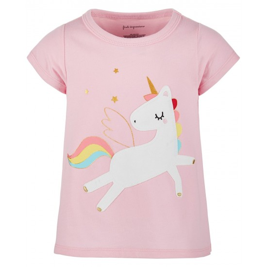 First Impressions Baby Girls Cotton Rainbow Unicorn T-Shirt