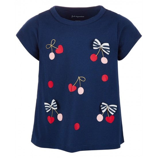 First Impressions Baby Girls Cherry Bows Cotton Top