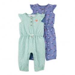 Child of Mine by Carter's Baby Girl Jumpsuit, 2pk