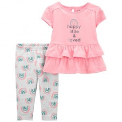 Child of Mine by Carter's Baby Girl Peplum Top & Pant, 2pc set