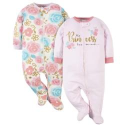 Gerber 2-Pack Baby Girls Princess Sleep 'n Plays