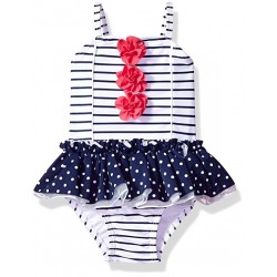 Little Me Baby Girls' Swimsuit, Navy Stripe