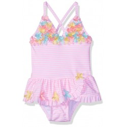 Little Me Baby Girls' Swimsuit, 3D Multi Pink, 24M