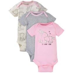 Gerber 3-Pack Baby Girls Love  Bodysuits