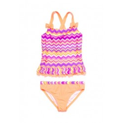 J-khaki 2-Piece Chevron Tankini Girls 4-6x