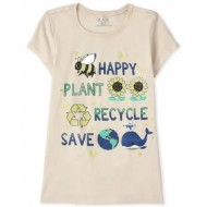 Girls Recycle Graphic Tee