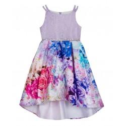 Rare Editions  Lace Printed Mikado Dress