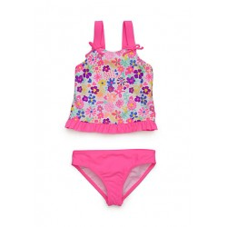 J Khaki Two-Piece Springtime Tankini Girls 4-6x