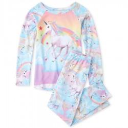 Girls Rainbow Unicorn Pajamas by CP