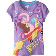 Disney Girls' Inside Out Short-Sleeve T-Shirt - Purple