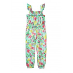 Btween Girls 4-6x Smocked Jumpsuit - Floral