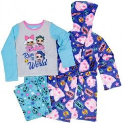 LOL Surprise  Girl's  3-Piece Pajama Set with Robe