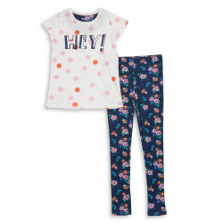 Dex Girls Two-Piece Tee and Pants Pajama Set - Older Girls