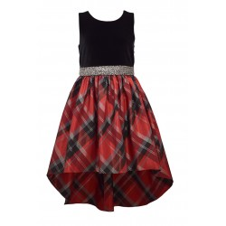 Bonnie Jean Girls 7-16 High Low Plaid Dress