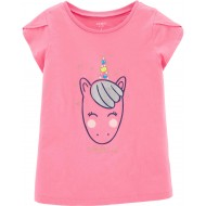 Carter's Glitter Unicorn Jersey Tee -Little & Big  Girls