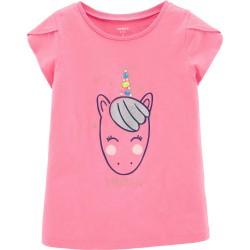 Carter's Glitter Unicorn Jersey Tee -Little & Big  Girls