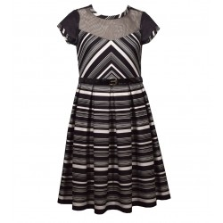 Bonnie Jean Miter Stripe Knit Dress 7-16 Years
