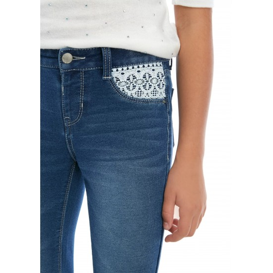 Girls 7-16 Crochet Knit Detail Denim Jeans by Crown & Ivy