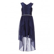 Tween Diva Big Girls Crossover-Bodice Fit-And-Flare Dress