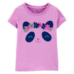 Carter's Floral Panda Jersey Tee