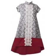 Bonnie Jean  Jacquard Hilo Dress 4-16 Years