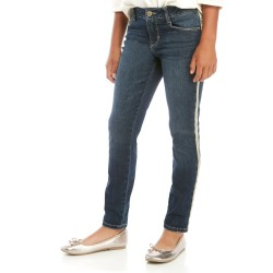 Crown & Ivy Girls 7-16 Sparkle Taping Jeans