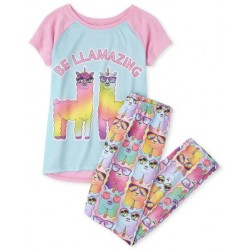 Girls Rainbow Llamacorn Pajamas