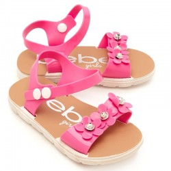 Bebe Toddler Girl Flower Jelly Sandals