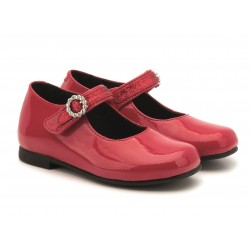 Rachel Shoes Lil Millie Mary Jane Flat (Toddler) - RED