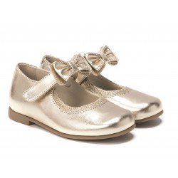 Rachel Shoes Penny Mary Jane Flat - GOLD