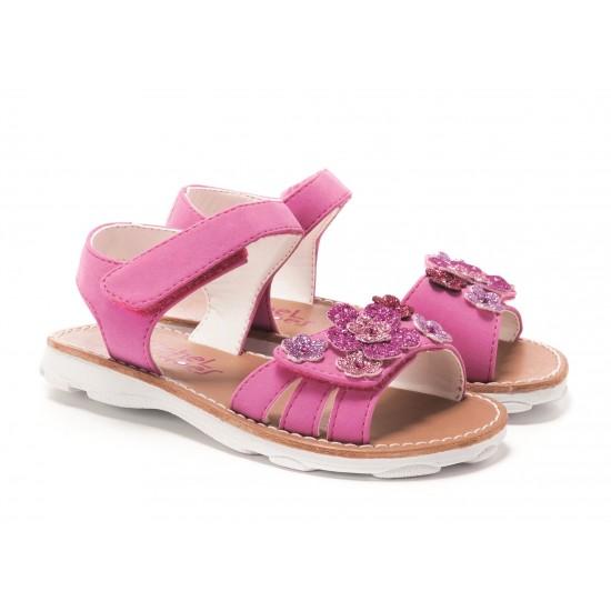 Rachel Shoes Bright  Pink  Floral Sophie  Sandal - Toddler Girls