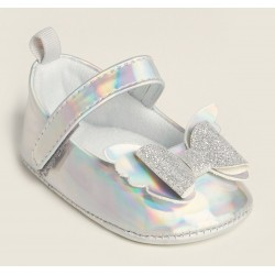 Stepping Stones  Iridescent Butterfly Bow Mary Jane Flats