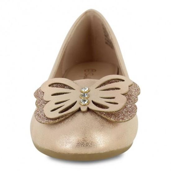 Sophia Taylor Butterfly Girls Flats - Gold
